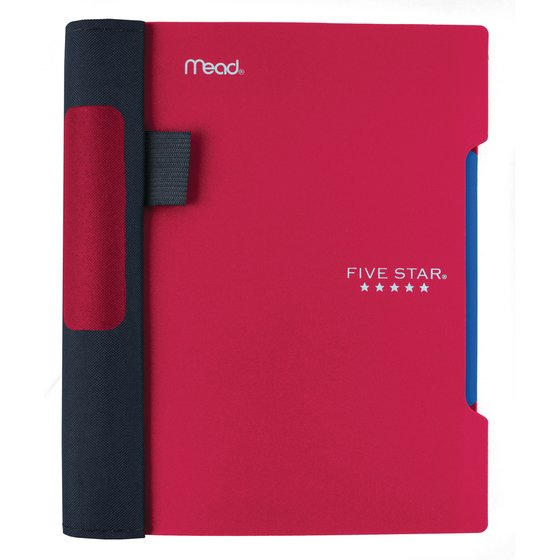 "Five Star Advance  Wirebound Notebook, 1 Subject, 7"" x 5"", College Ruled, Red"