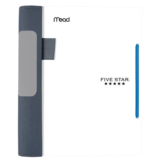 """Five Star Advance  Wirebound Notebook, 1 Subject, 7"""" x 5"""", College Ruled, White"""