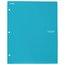 Five Star 2-Pocket Stay-Put Plastic Folder and File, Teal