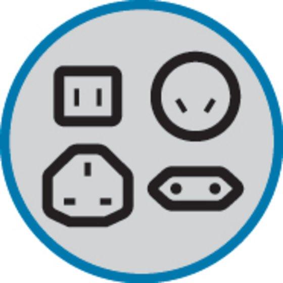 Plugs for US/Japan, AUS/China, UK, EU