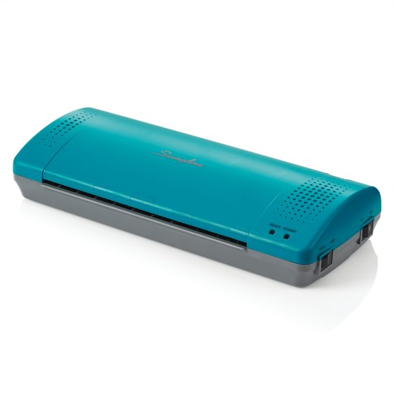 "Swingline Inspire Plus Thermal Pouch Laminator, 9"" Max Width, 4 Minute Warm-up, 3 Mil, Teal/Gray"