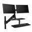 """Kensington® SmartFit® Sit/Stand Dual Monitor Workstation for up to 24"""" screens"""