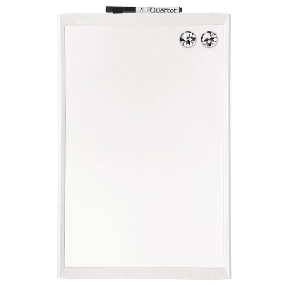 "Quartet Magnetic Dry-Erase Board, 11"" x 17"", Assorted Frame Colors"