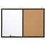 Quartet® Combination Board, 2' x 3', Dry-Erase & Cork, Black Finish Frame