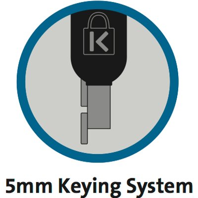 5mm Keying System with Hidden Pin™ Technology