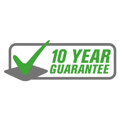 10 Year Guarantee for Peace of Mind