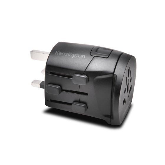 Kensington® International Travel Adapter – Grounded (3-Prong) to Support High Power Devices
