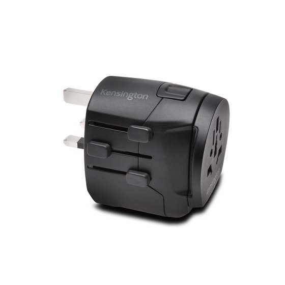 Kensington® International Travel Adapter – Grounded (3-Prong) with Dual USB Ports to Support High Power Devices