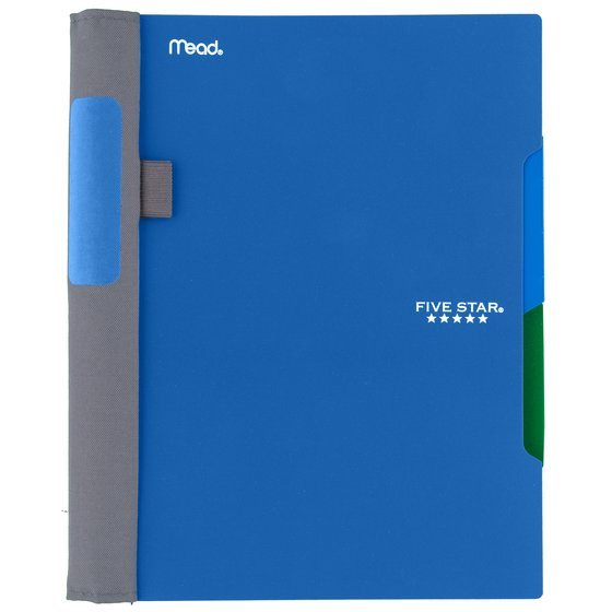 "Five Star Advance Wirebound Notebook, 2 Subject, College Ruled, 9 1/2"" x 6"", Cobalt Blue"