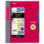 """Five Star Advance Wirebound Notebook, 2 Subject, College Ruled, 9 1/2"""" x 6"""", Red"""
