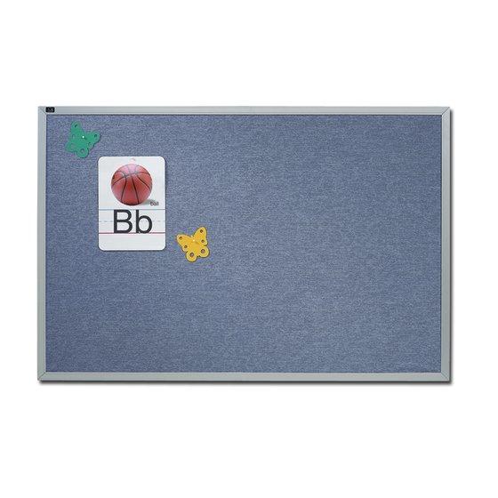 Quartet® Vinyl Tack Bulletin Boards, Blue with Aluminum Frame