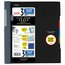 """Five Star Advance Wirebound Notebook, 3 Subject, College Ruled, 11"""" x 8 1/2"""", Black"""