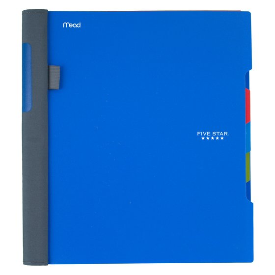 "Five Star Advance Wirebound Notebook, 3 Subject, College Ruled, 11"" x 8 1/2"", Cobalt Blue"