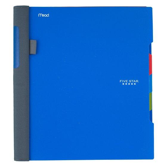 "Five Star Advance Wirebound Notebook, 3 Subject, College Ruled, 11"" x 8 1/2"", Cobalt Blue"