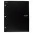 Five Star Customizable Pocket and Prong Plastic Folder, Black