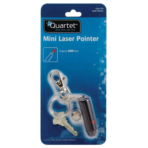 Quartet Mini Keychain Laser Pointer, Class 3a, Compact, Large Venue