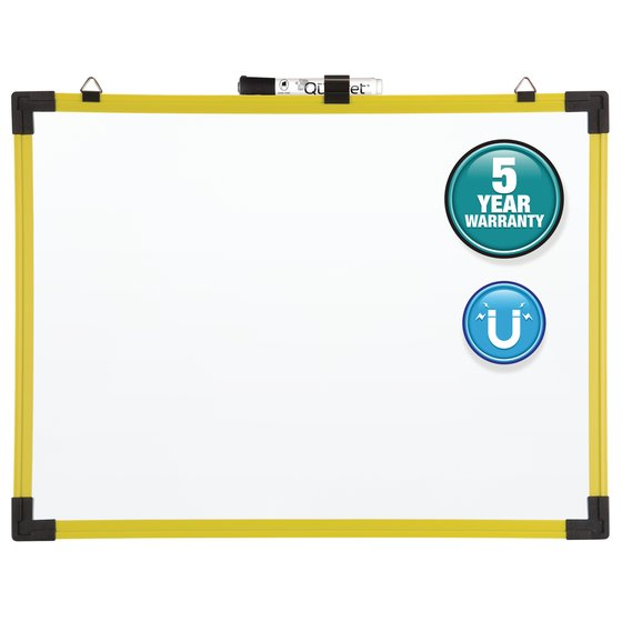 Quartet® Industrial Magnetic Whiteboards, Yellow Frame