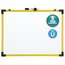 """Quartet® Industrial Magnetic Whiteboard, 24"""" x 18"""", Yellow Frame"""