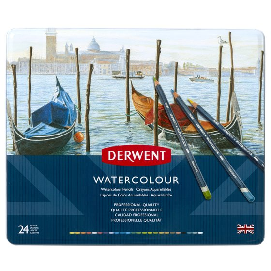 Watercolour Pencils 24 tin