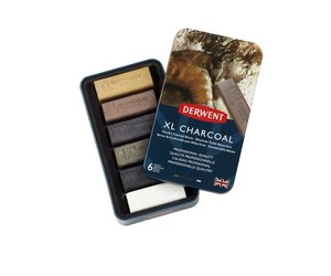Derwent XL Charcoal 6 Tin