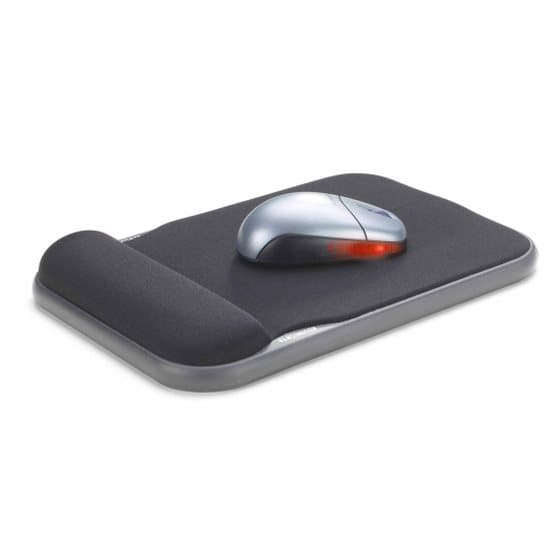 Height Adjustable Gel Mouse Pad Black