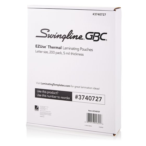 EZUse Thermal Laminating Pouches 5 mil 200 Pack