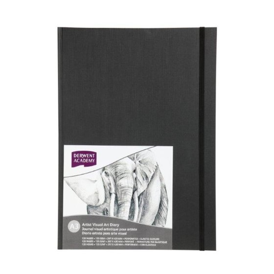 Hardcover Casebound Visual Art Diary A3 Portrait (128 pages)