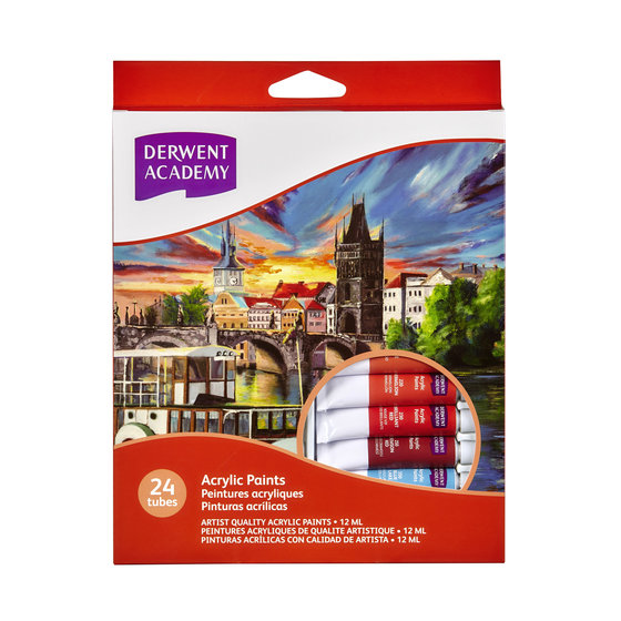 Acrylic Paints 12ml 24 Pack
