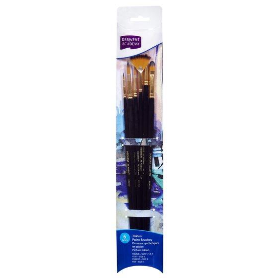 Taklon Large Brush Set Acetate 6 Pack