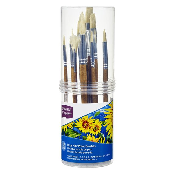 Hogs Hair Small Brush Set Cylinder 12 Pack