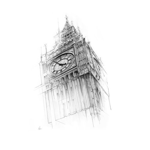 'Big Ben' drawn by Alexis Marcou