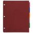 """Five Star Flex NoteProtector Tabbed Divider, 9 3/4"""" x 11 1/2"""", Assorted Colors, 5 Pack"""