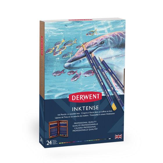 Derwent Inktense 24 wooden Box
