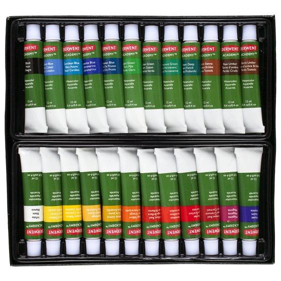 Derwent Academy Watercolour Paints, 24 Pack