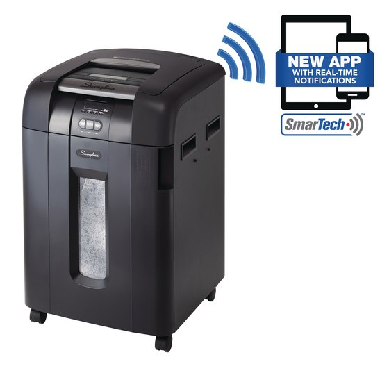 Swingline Stack-and-Shred 600X Auto Feed Shredder SmarTech Enabled