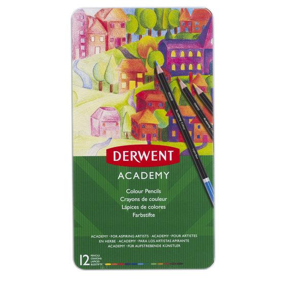 Academy Colouring 12 Tin