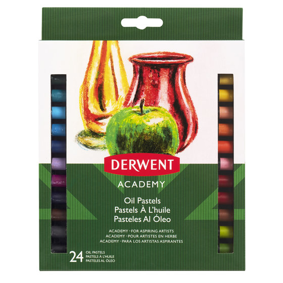 Derwent Academy Oil Pastels, 24 Pk