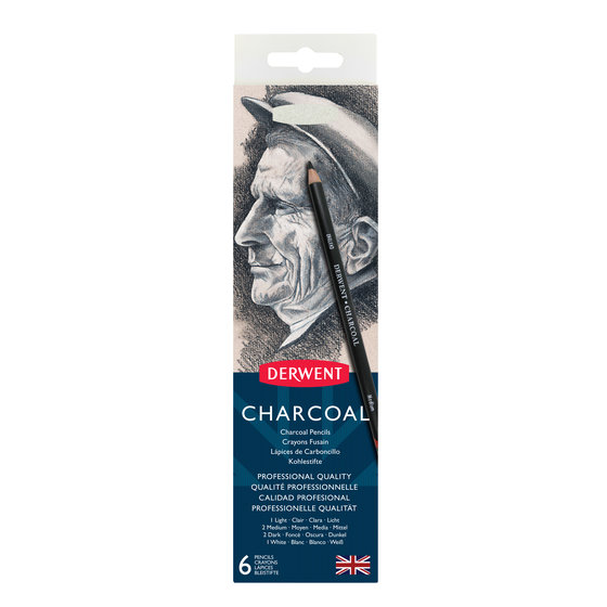 Charcoal Pencils 6 Tin