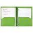 Five Star Customizable Pocket and Prong Plastic Folder, Lime