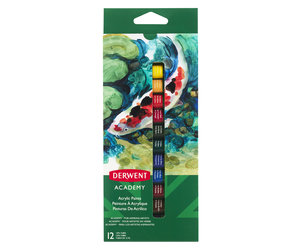 Derwent Academy Acrylic Paints 12ml 12 Pack