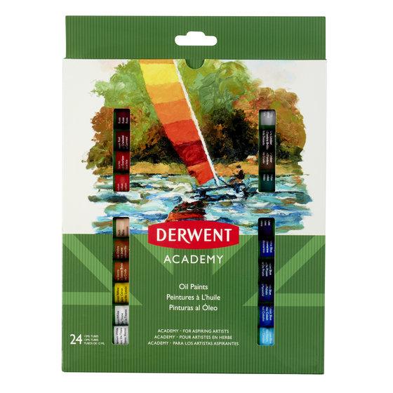 Derwent Academy Oil Paints 12ml 24 Pack