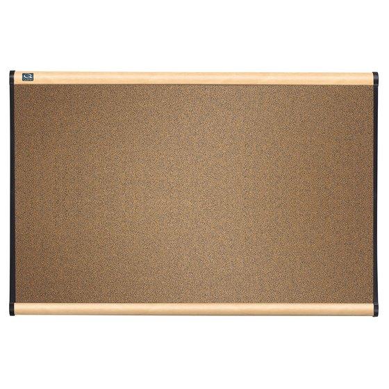 Quartet® Prestige® Colored Cork Bulletin Boards, Maple Finish Frame