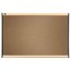 Prestige Colored Cork Bulletin Board, 3' x 2', Maple Finish Frame