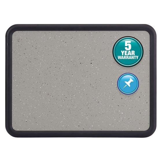 Quartet® Contour® Granite Bulletin Boards, Black Frame