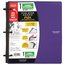 "Five Star Flex 1"" Hybrid NoteBinder, Royal Purple"