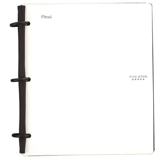 "Five Star Flex 1"" Hybrid NoteBinder, White"