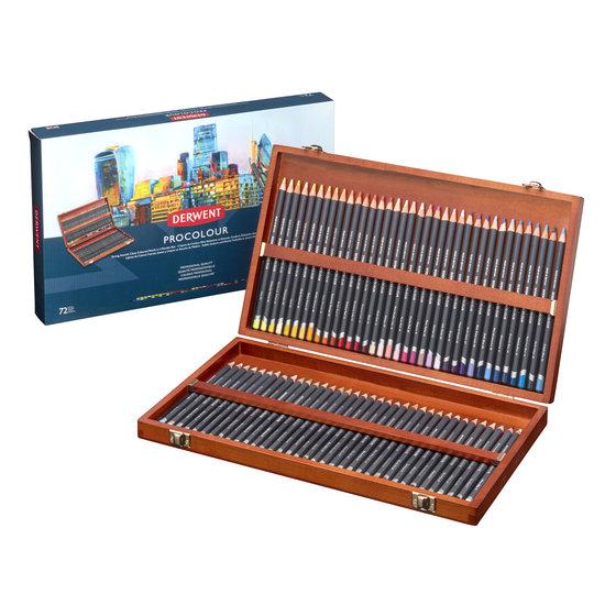 Derwent Procolour (72) wooden box