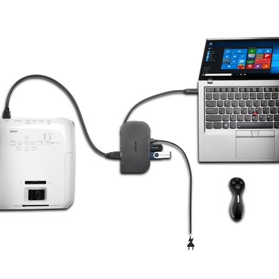 universal docking station usb-c pass-through power