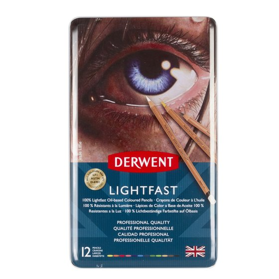 Derwent Lightfast (12) Tin