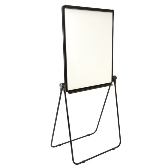 "Ultima Easel, Whiteboard/Flipchart, 27"" x 34"", Reversible, Black Frame"